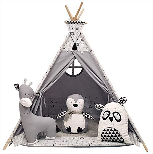 Izabell Kinder Spielzelt Teepee Tipi Set für Kinder drinnen draußen...