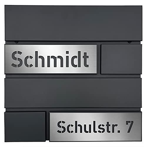 AlbersDesign - Personalisierter Design Briefkasten V2 individuell mit...