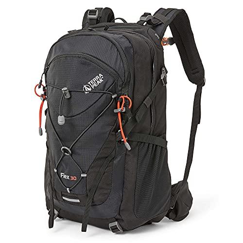 Terra Peak Flex 30 Wanderrucksack 30L schwarz mit wasserdichtem...
