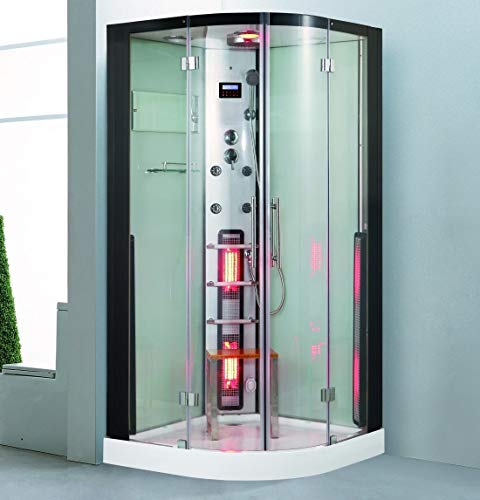 XXL Luxus LED Dampfdusche+Infrarotsauna Kombi...