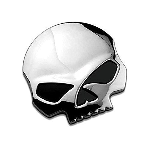 3D Metallschädel Autoaufkleber-Auto & Motorrad-Aufkleber Schädel...
