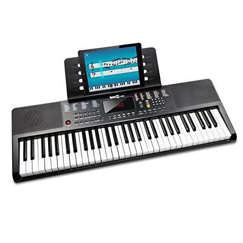 RockJam kompaktes 61 Tasten Keyboard mit Notenständer, Netzteil,...