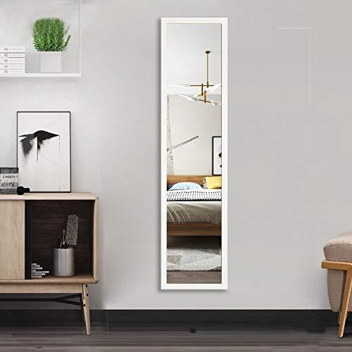 AUFHELLEN Wandspiegel 120x30cm Großer Spiegel mit Weiß Rahmen HD...