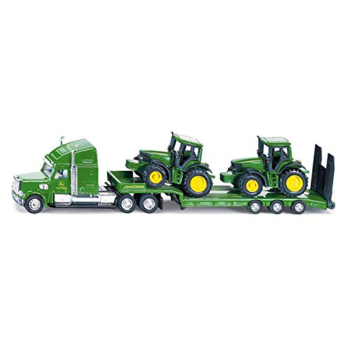 siku 1837, Tieflader mit 2 John Deere Traktoren, 1:87,...