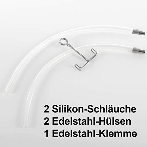 2 Stück Gräfenstayn® Dampfentsafter Silikon-Ersatzschlauch...