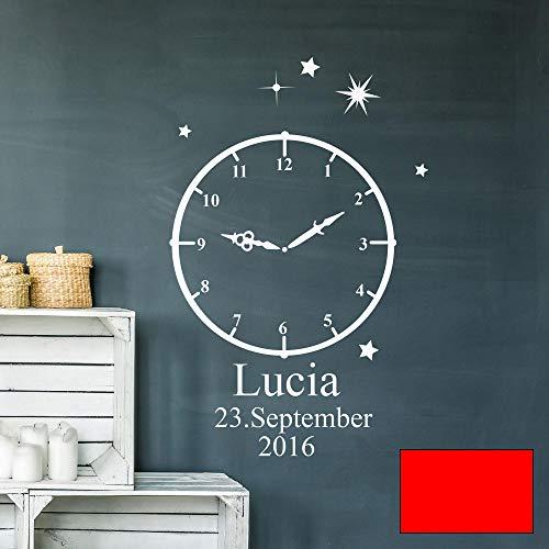 Wandtattoo Geburt Geburtszeit Uhr Wunschdaten Geburtsdaten Name Sterne...