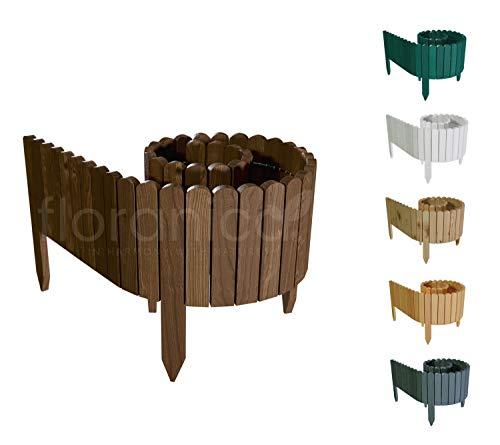Floranica® Rollborder   Flexibler Holzzaun 203cm   Höhe: 10cm  ...
