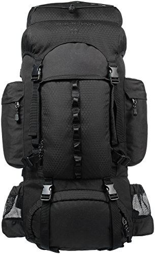 Amazon Basics - Wanderrucksack mit Innengestell und Regenschutz, 55 L,...