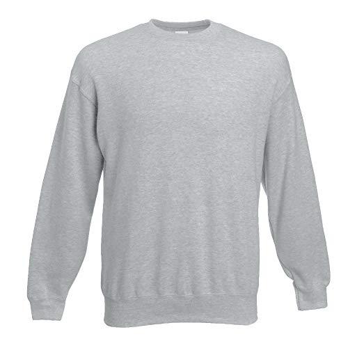 Fruit of the Loom - Set-In Sweatshirt - heather grey - Größe: XL