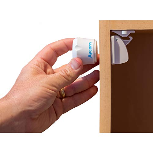 AYCORN Magnetisches Schrankschloss für Kinder und Babys - unsichtbare...