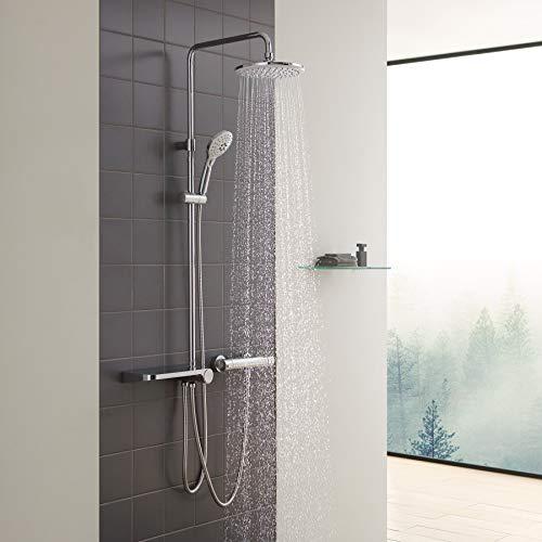 CECIPA Duschsystem mit Ablage, Duschset ohne Armatur, Regendusche ohne...