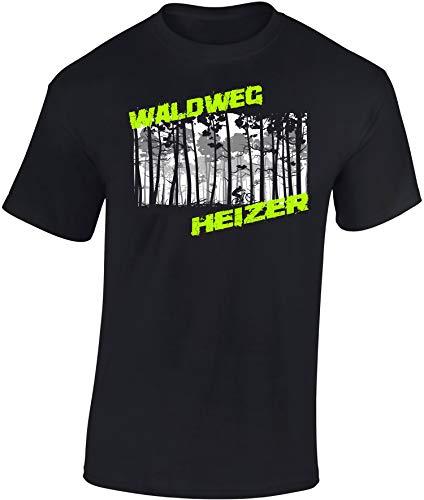 T-Shirt: Waldweg Heizer - Fahrrad Geschenke für Damen & Herren -...