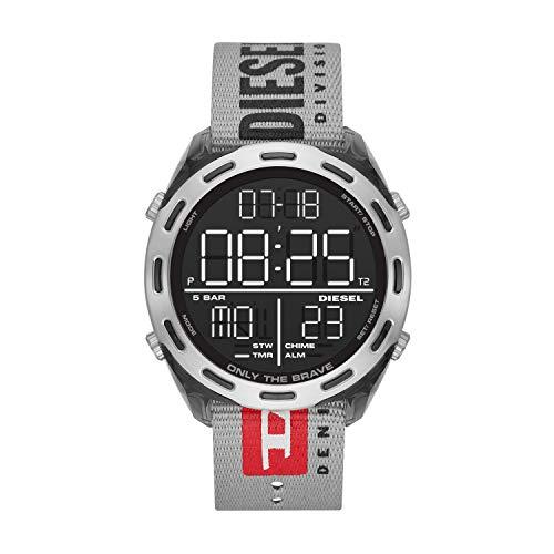 Diesel Herren LCD Digital Uhr mit Nylon Armband DZ1894