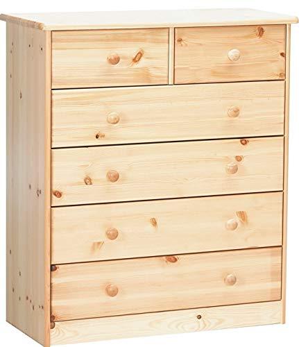 Erst-Holz® Kommode Sideboard Anrichte Kiefer Natur 2+4 Schubladen...