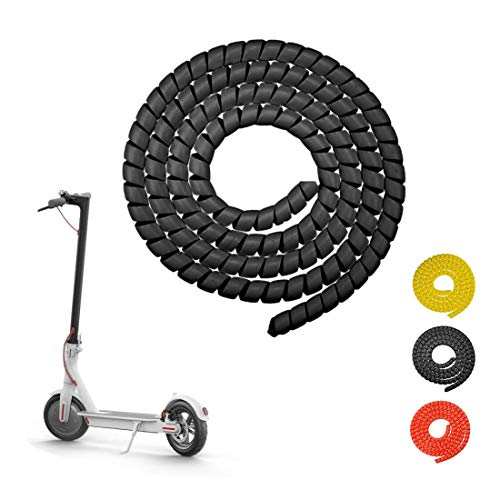 Yungeln Scooter Kabelschutz Spiral Kabelschlauch 1M Silikon...