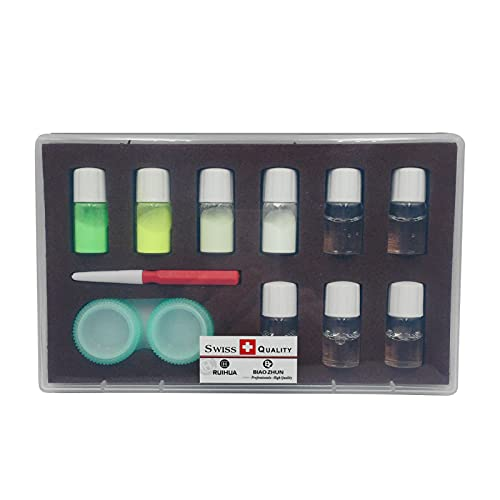 4 Color Professional Watch Leuchtstofflampen-Puder-Set Uhrmacher Uhr...