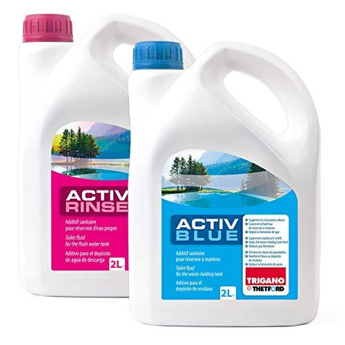 Set Thetford Activ Blue & Aktiv Rinse Toiletten Zusatz je 2 Liter,...