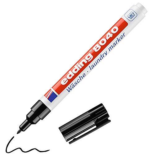 edding 8040 Wäschemarker - schwarz - 1 Stift - Rundspitze 1 mm -...