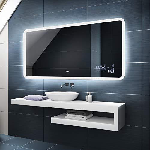 Badspiegel 100x60cm mit LED Beleuchtung - Wählen Sie Zubehör -...