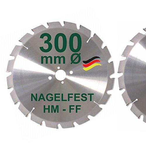 HM Sägeblatt 300 x 30 mm NAGELFEST FF Hartmetall Kreissägeblatt...