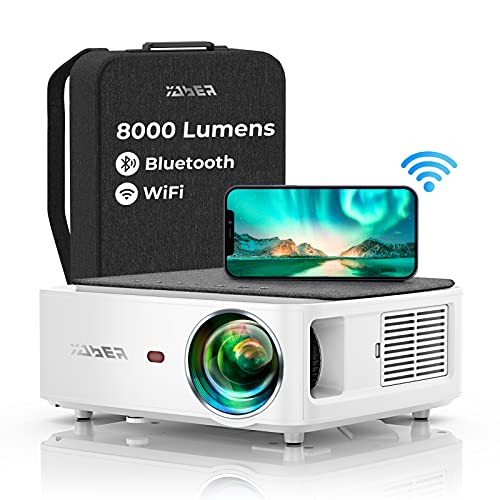 YABER WiFi Bluetooth 5G Beamer 8000 Lumen Full HD 1080P Heimkino...