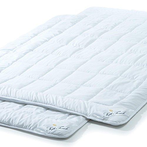 aqua-textil Soft Touch Sommer Leicht Bettdecke 2er Set 135 x 200 cm...