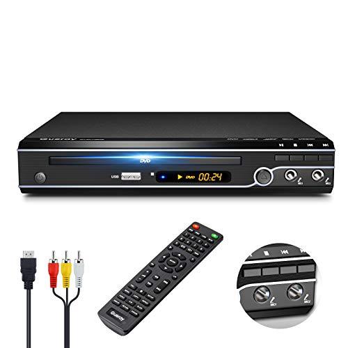 Gueray Kompakter DVD-Player Multi-Regionen Ohne Code mit USB-Eingang...