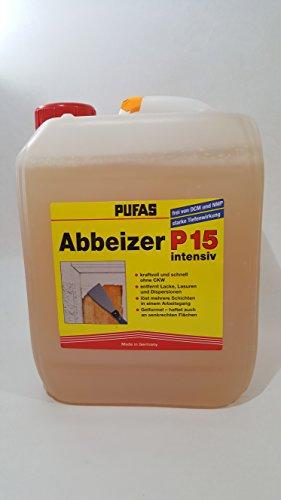 Pufas Abbeizer P15 intensiv 5 Liter Kraft-Abbeizmittel für Lacke...