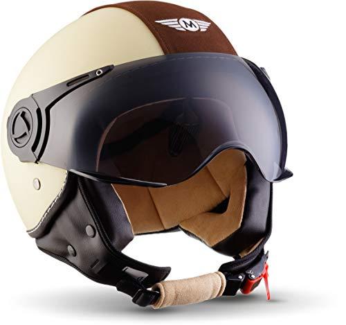 "MOTOHelmets® H44 ""Vintage Creme"" · Jet-Helm · Motorrad-Helm..."