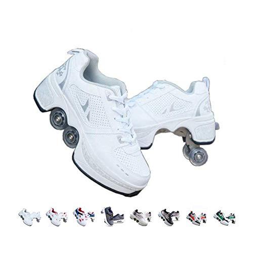Rollschuhe Schuhe mit Rollen Mädchen, Outdoor Quad Kick Roller Skates...