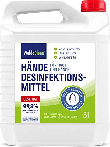 Desinfektionsmittel für Hände und Haut 5 Liter – anwendungsfertig...