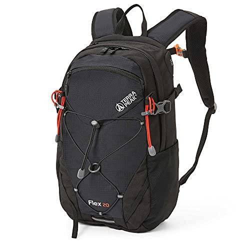 Terra Peak Flex 20 Wanderrucksack 20L schwarz mit wasserdichtem...