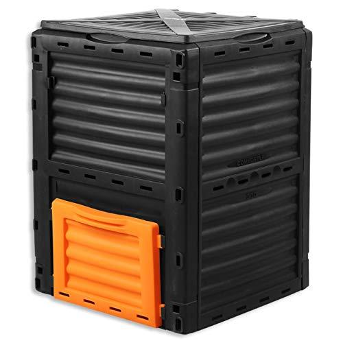 Fuxtec 300L Komposter FX-KOMP300 wetterfest 82 x 61 x 61cm Deckel...
