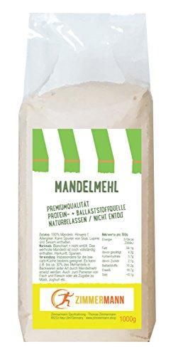 Mandelmehl 1000g - naturbelassen - nicht entölt - Hoher Proteingehalt...