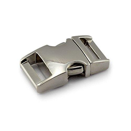 Klickverschluss aus Metall im 3er Set, 5/8''...