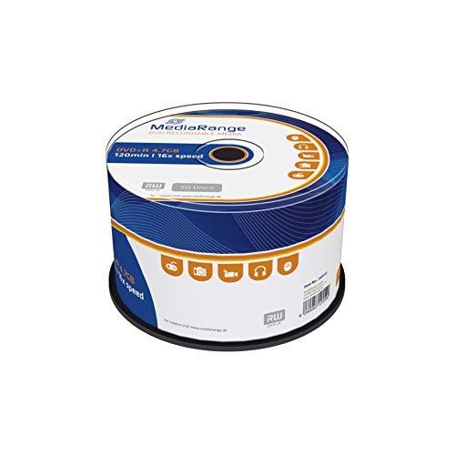 MediaRange DVD+R 4.7GB 120min 16-fache Schreibgeschwindigkeit, 50er...