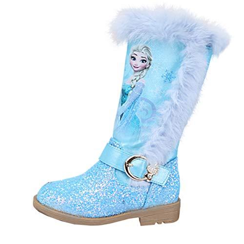 Aishangyide Schneestiefel Mädchen Prinzessin Schuhe ELSA Stiefel...