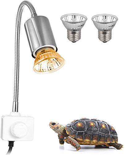 Decdeal Schildkröte Wärmelampe für Aquarium Reptil mit Clip 25W 360...