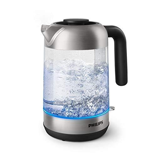 Philips HD9339/80 Wasserkocher aus Glas, 2200 Watt, 1,7 Liter