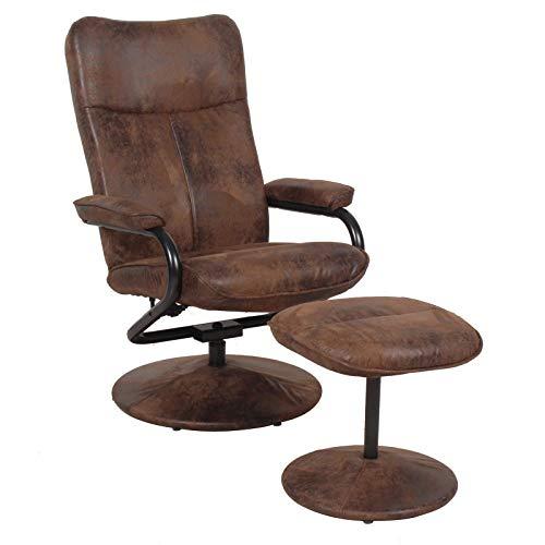 CARO-Möbel Relaxsessel Fernsehsessel Dakota mit Hocker im Wildleder...