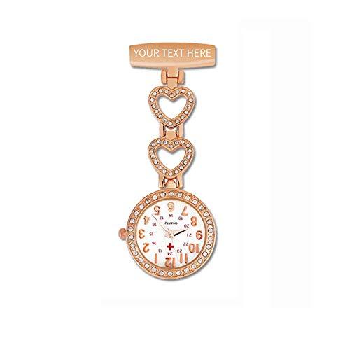 Herren Damen krankenschwesteruhr personalisierte Taschenuhr,...