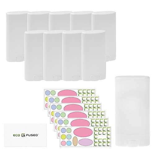 Eco-Fused 10er-Pack Deodorant-Behälter - Weiß - 15 ml (0,5 oz) - 60...