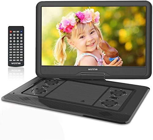 WONNIE 17.5' Tragbarer DVD-Player mit 15.6 Zoll Rotation Bildschirm...