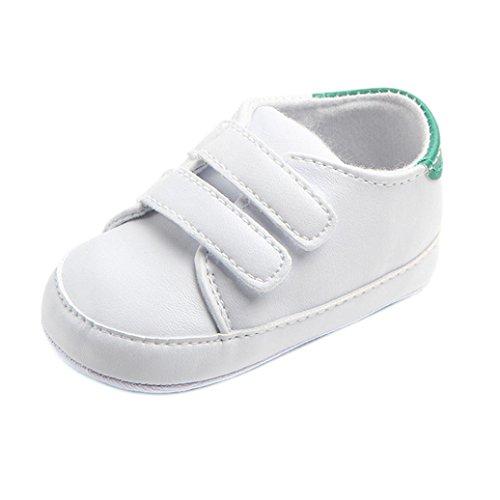 FNKDOR Baby Erste Schuhe Neugeborenen Lauflernschuhe Weiß...