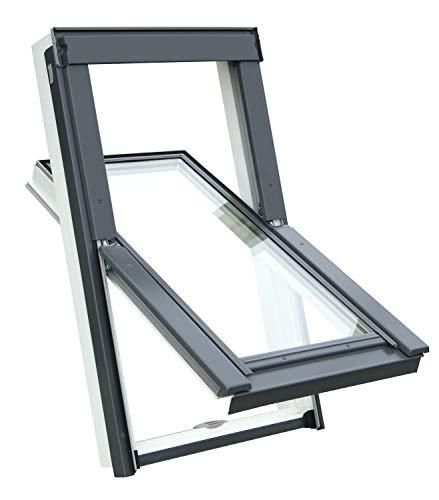 Kunststoff Dachfenster Balio Schwingfenster mit Eindeckrahmen und...