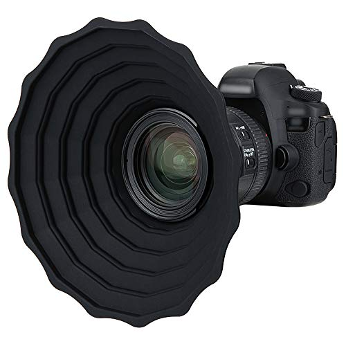 JJC Silikon Gegenlichtblende für Canon Nikon DSLR Kamera Objektiv...