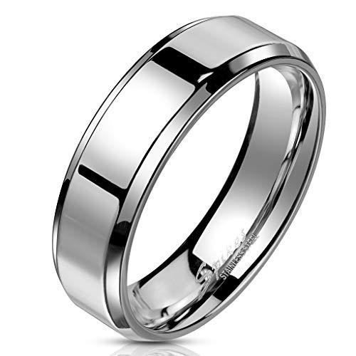 Bungsa® 52 (16.6) Edelstahl Ring mit schrägem Rand hochglanzpoliert...
