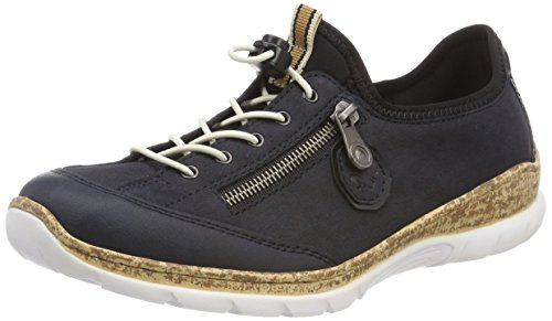 Rieker Damen N4263 Sneaker, Blau (Pazifik/Marine/Schwarz), 38 EU