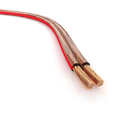 KabelDirekt – Lautsprecherkabel – Made in Germany – aus reinem...