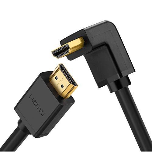 UGREEN HDMI Kabel HDMI 90 Grad Kabel Stecker zu Stecker mit Ethernet...